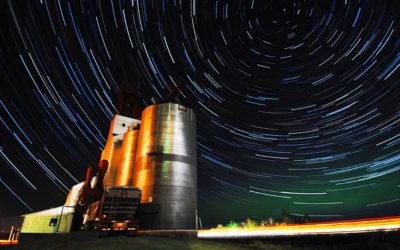 Star Trails Over Clair, Saskatchewan