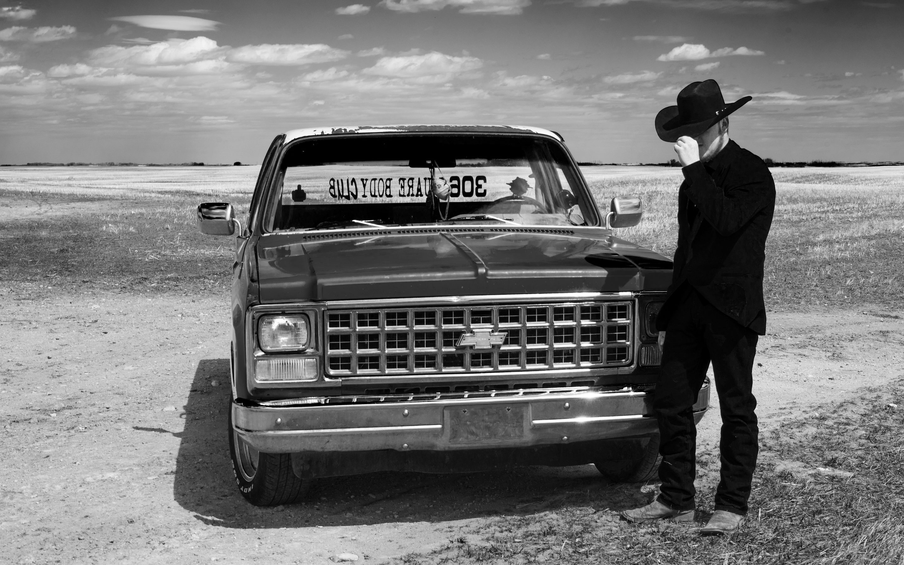 Country boy and his truck