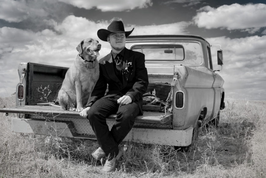 Country Boy and his Dog