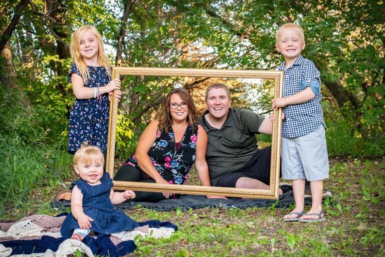 Framed family potrait
