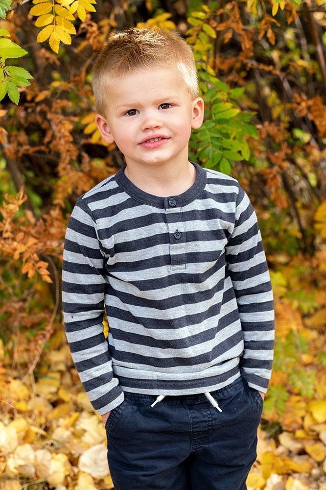 Fall kids nature photo