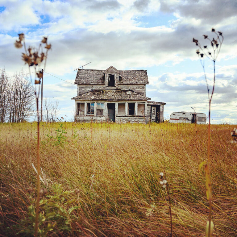 abandoned prairie house