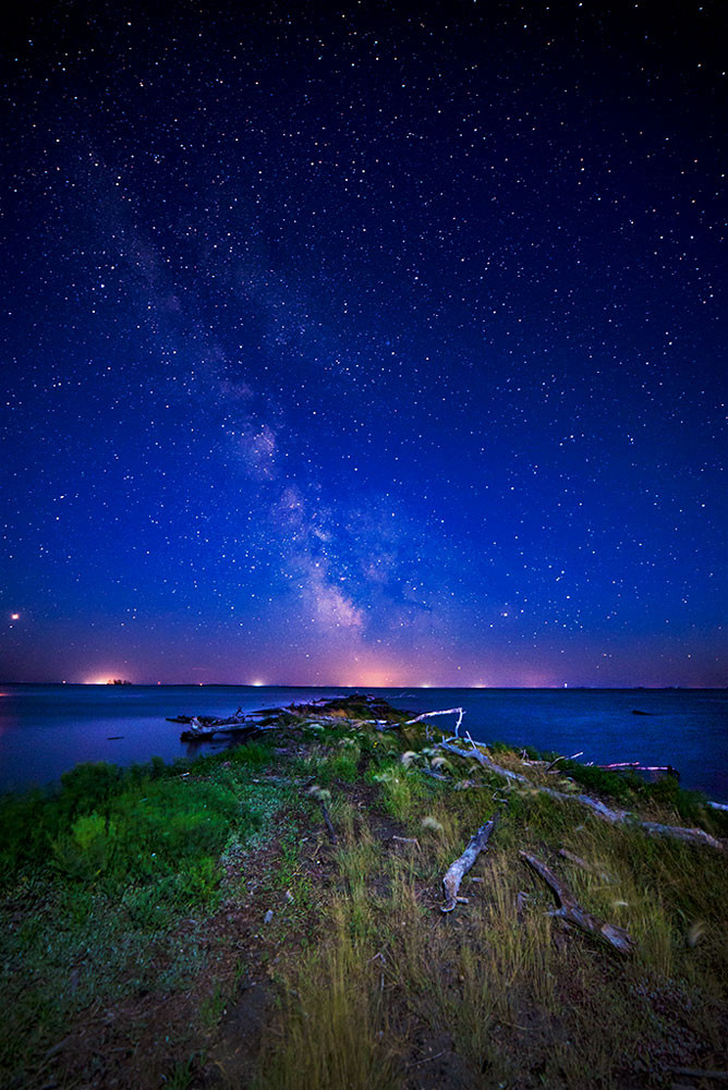 Milky Way Over The Quill Lakes Saskatchewan