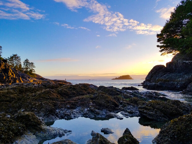 A Tofino Low Tide Sunset